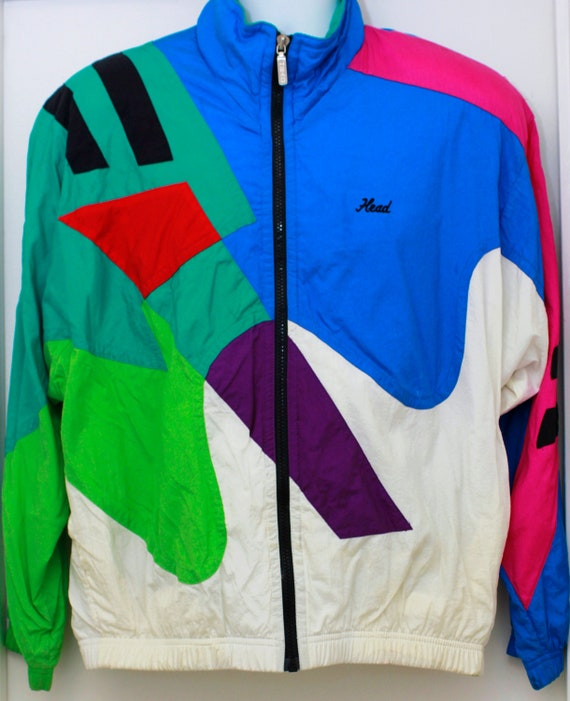 80s Vintage DISARRAY Windbreaker Jacket Sz: Large