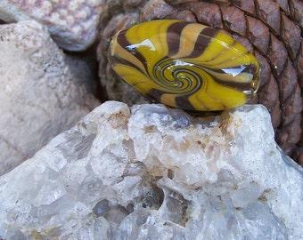 Handblown Glass Wig-Wag Reversal Bead