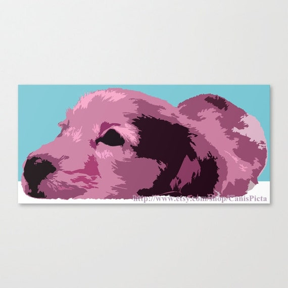 "Pastel Dachshund ""Apple Dapple"" 10x6 Pop Art Print Hot Dog Lavender Purple Pink Easter Wall Art Home Decor Weiner Doxie Bright Modern Long"