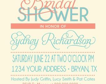 ON SALE! Beach Bridal Shower Invitation