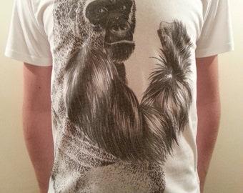 Limited Edition Organic Hand Drawn Gorilla Tee.