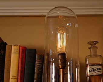 Tall Glass Dome Table Lamp by Stonehill Design