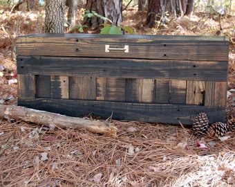 Hope Chest/ Toy Box/ Storage/ Small Chest/ Reclaim Wood/ Jacobean