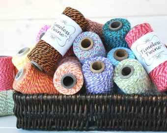 On Sale - Discounted  Bakers Twine 160 Yards Spool - Twine by Timeless Twine - 4ply Cotton Twine on Sale - Baker's Twine