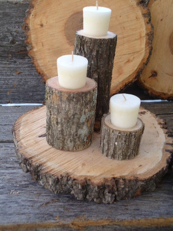 Items similar to candle centerpiece for rustic wedding