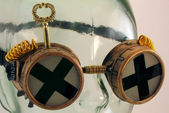 Albion Dynamo Ocular View Shields Modified Cupstyle Steampunk Goggles Prop