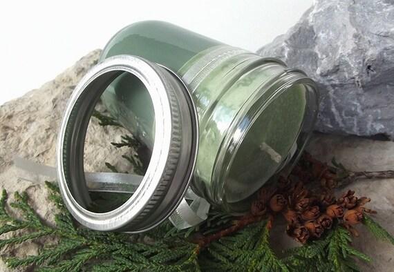Peppermint & Eucalyptus Soy (and Palm) Candle - 8 ounce Mason Jar