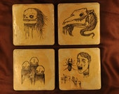 Ceramic Coasters - Creepy Monsters
