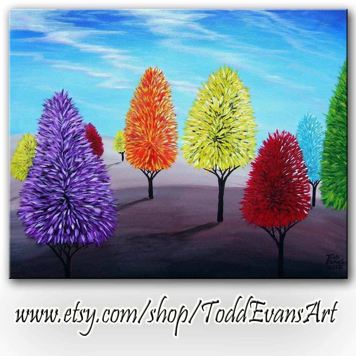 20 fantasy colorful tree - photo #17