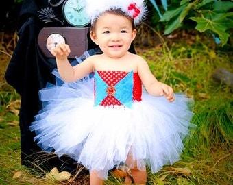 Alice in Wonderland, White Rabbit Costume, Bunny Tutu, Bunny Costume, Rabbit Tutu, Bunny Tutu Dress, OOC, Halloween Costume, Baby Girl Tutu