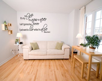 Bon Jovi  It's My Life - Song Lyrics Wall Art Vinyl Decal Sticker Wall Quotes Sticker Decal   Decal Lettering  (B91)
