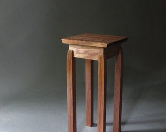 Accent Table/ Small End Table: Handmade Custom Wood Furniture- Mid Century Modern Zen Side Table