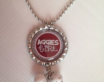 Texas Aggies Bottlecap Necklace