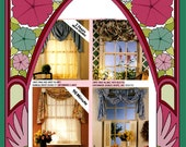 Curtain Pattern, easy, home décor, McCalls 681 one size, windows 26 - 84 rosettes lined curtains swag valance draped bow