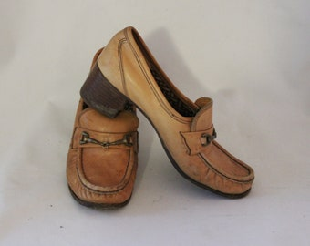 Vintage 'Bandolinos' Tan Leather Women's Shoes