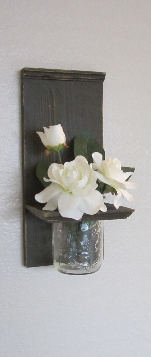 shabby chic nautical beach cottage reclaimed cedar flower vase. Black Bedroom Furniture Sets. Home Design Ideas