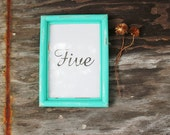 teal 10 wedding center pieces 5 x 7 distressed picture frames . table number holders . instant collection