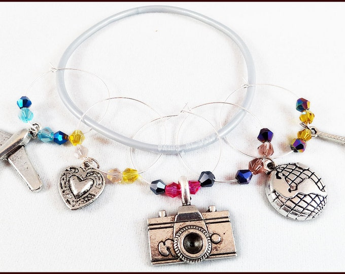 Travel Wine Charms - 5/pack