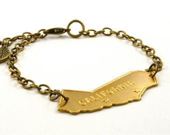 Vintage California Bracelet, California Charm Bracelet