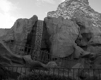 SALE - 5x7 print, matted - photograph - home decor - Fantasyland - Matterhorn Mountain