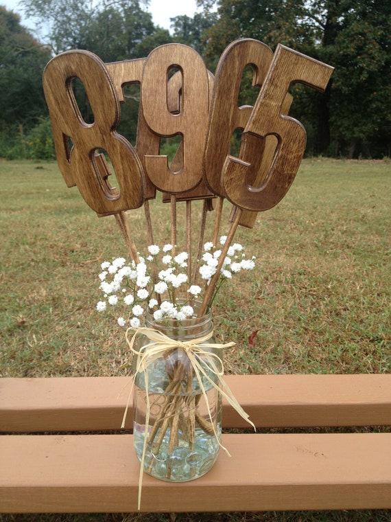 Wedding Table Numbers - Rustic Wedding - Wooden Table Numbers - Wedding Table Decor - Wedding Table Signs - Table Numbers for Wedding