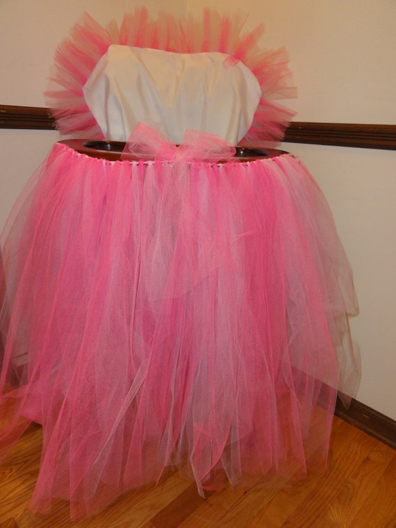 items similar to tulle tutu skirt and high chair cover on etsy