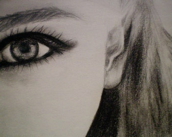 Pencil and charcoal portraits custom made for you. Custom sketch. Portrait. Eco friendly