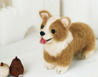 Miniature Welsh Corgi Needle Felting Kit