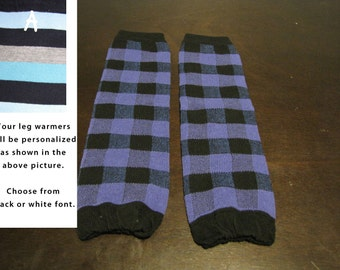 PURPLE PLAID baby leg warmers.  Great for babies, toddlers, and young kids