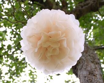 "10 x Medium (10"")  SHOWERPROOF Tissue Paper Pom Poms - Wedding Decorations - Garden Parties  - Waxed Poms"