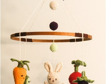 Little Veggie Baby Mobile Crochet Pattern