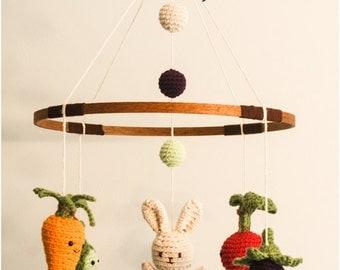 Little Veggie Baby Mobile Crochet Pattern