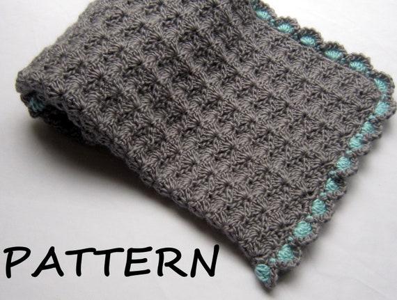 Crochet Baby Blanket Pattern Etsy : Items similar to Crochet Baby Blanket Pattern - Baby ...