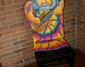 Jerry Garcia Grateful Dead upscaled chair painted by Artist Todd Fendos