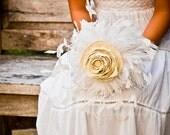 Wedding Feather Bouquet - Fabric Bouquet, Bride bouquet, Unique bouquets, Bridal Bouquets, Bird Inspired, Flower Bouquets, Home Decor