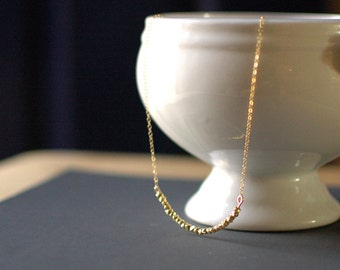 Gold Nugget String Necklace