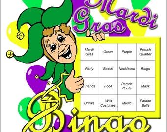 Mardi Gras Themed Bingo Set