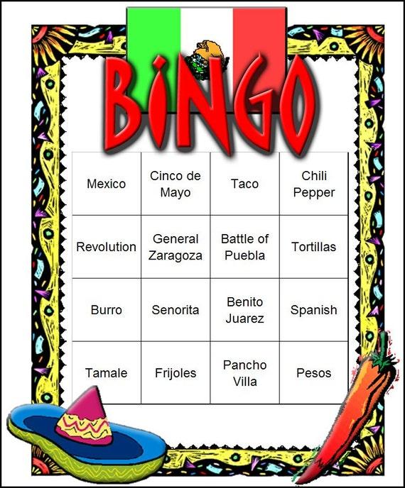 Mexican Fiesta Themed Bingo Set