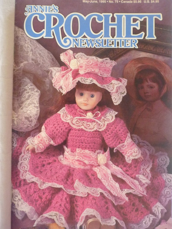 Items similar to Annies Crochet Newsletter, May/June 1995 no.75 : B513 ...