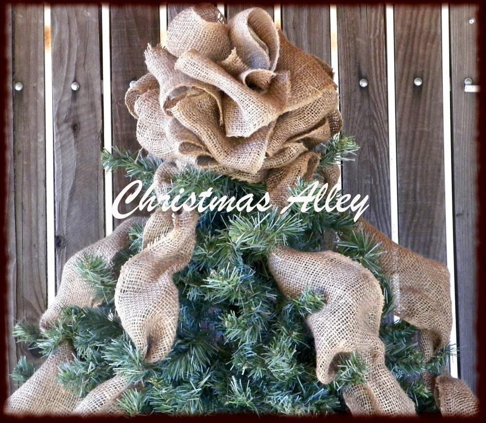Music Christmas Tree Topper Burlap Christmas Tree Topper