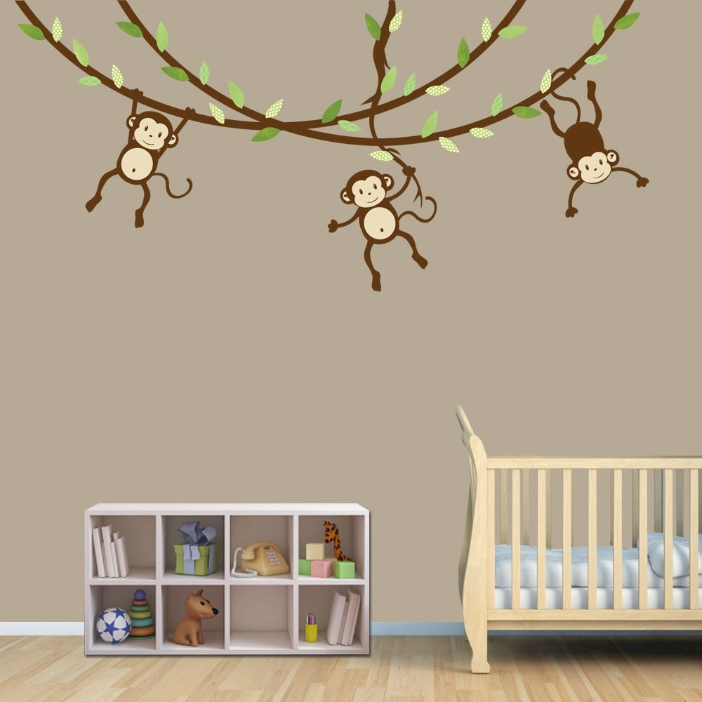 ... Monkey Decal, Nursery Wall Decals, Boy. 🔎zoom