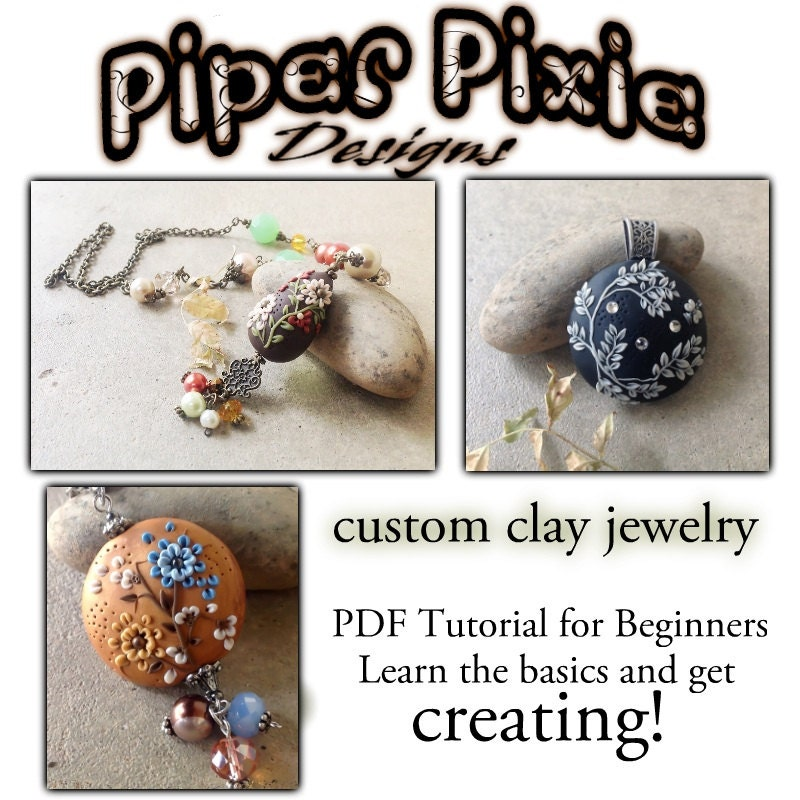 Polymer clay appliqué embroidery pdf tutorial for