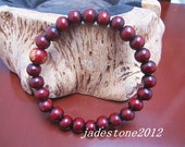 Free shipping -Tibetan Buddhism Real Natural red sandalwood meditation yoga  Beads Prayer mala bracelet
