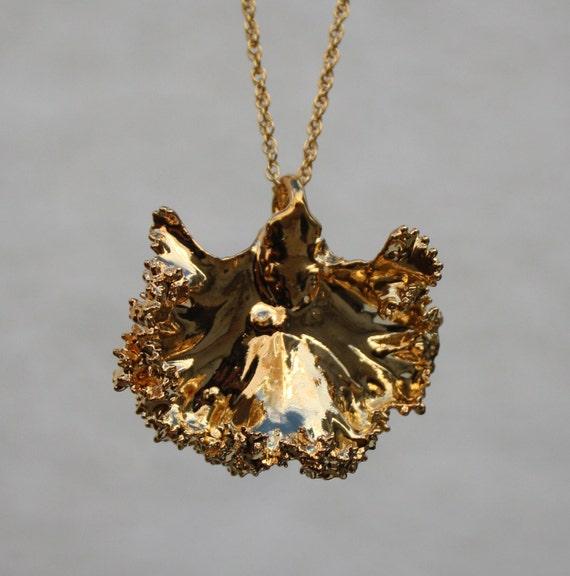 Gold Leaf Jewelry Real Leaf Jewelry 24k Gold