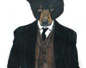 "Mr. ""Bear"" Bates - Downton Abbey Inspired Print 8x10"