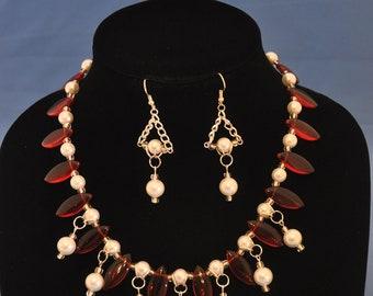 "Ruby ""Diamonds"" & Pearls Handmade"