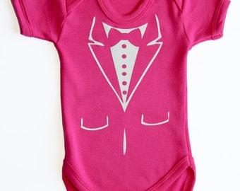 Pink Baby Tuxedo