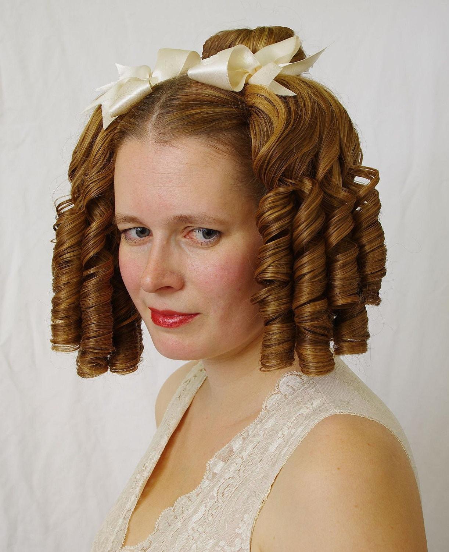 Nanette Romantic Biedermeier Ringlet Hairpiece 3pcs Set