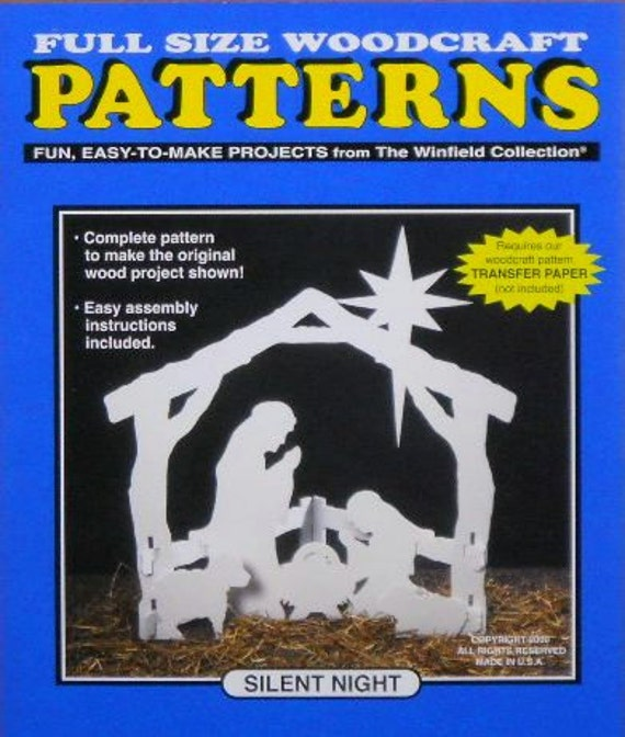 wooden christmas nativity woodworking patterns pdf plans