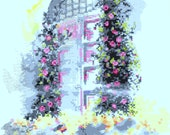 "Bucilla Printed Cross Stitch Kit ""Victorian Arbor"""